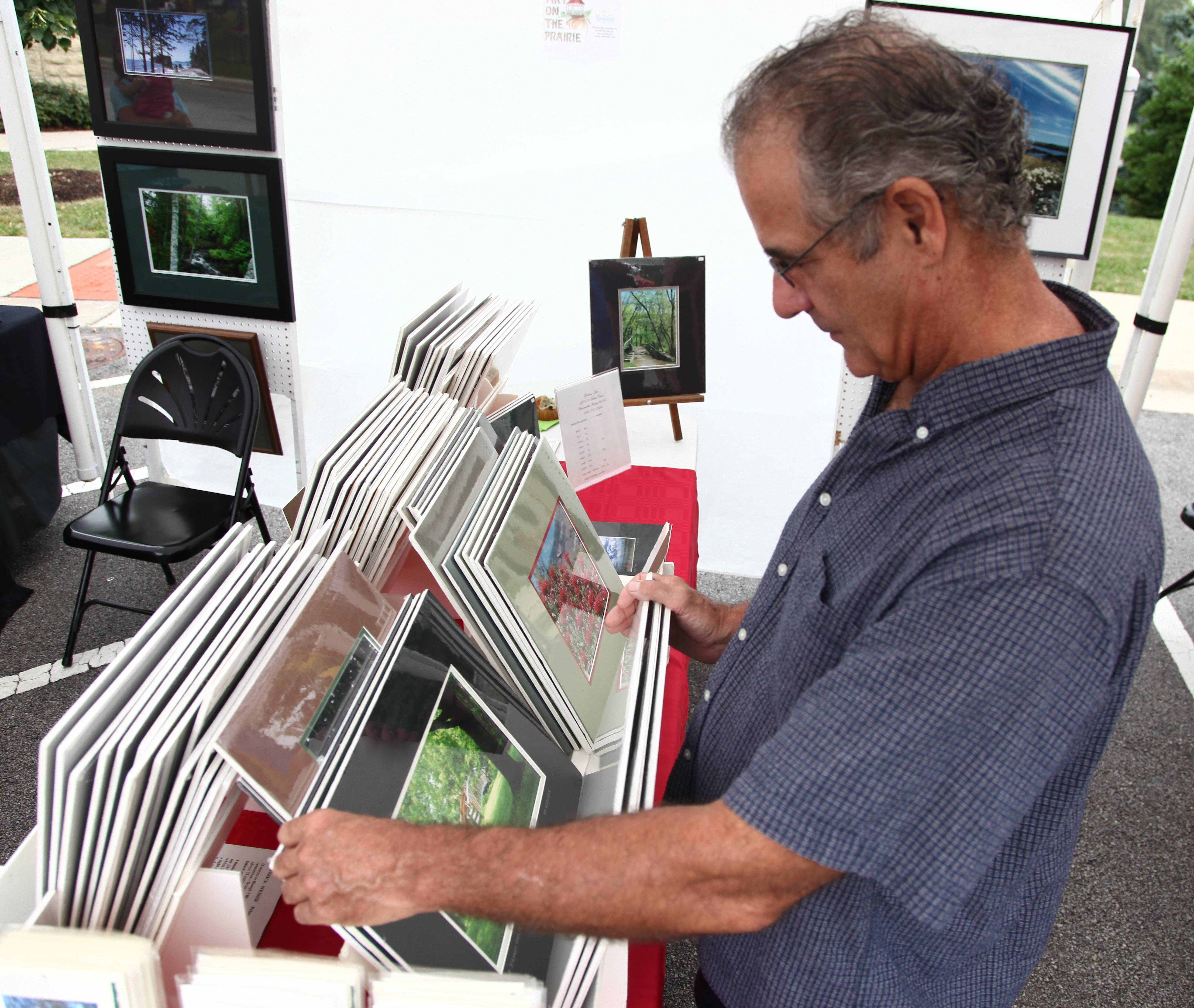 Art lovers can browse the works of about 30 artists while listening to a variety of music this weekend during Warrenville's Art on the Prairie/Music Festival.