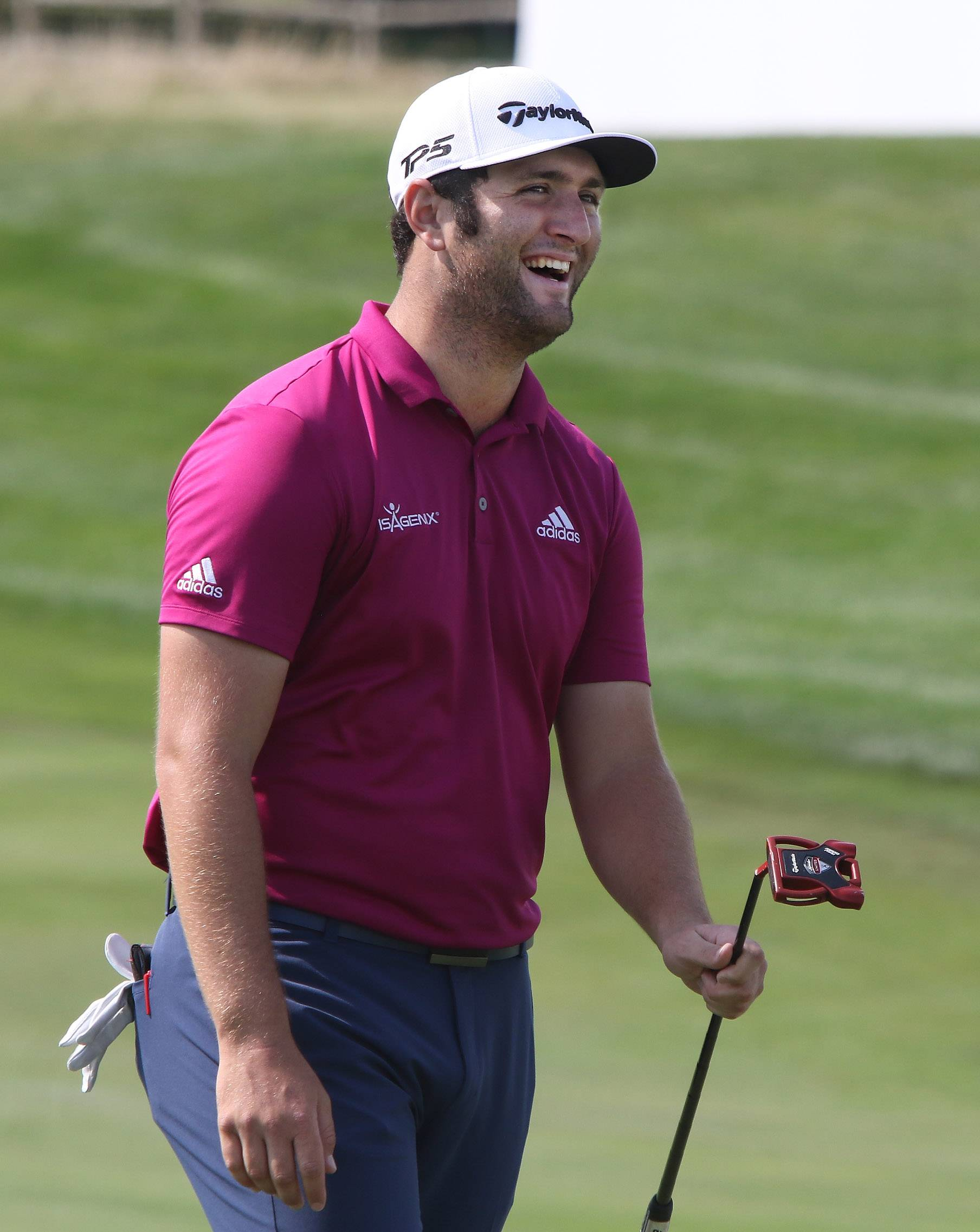 Jon Rahm, here preparing for the BMW Championship on Tuesday at Conway Farms Golf Club in Lake Forest, has climbed to No. 5 in the World Golf Rankings.