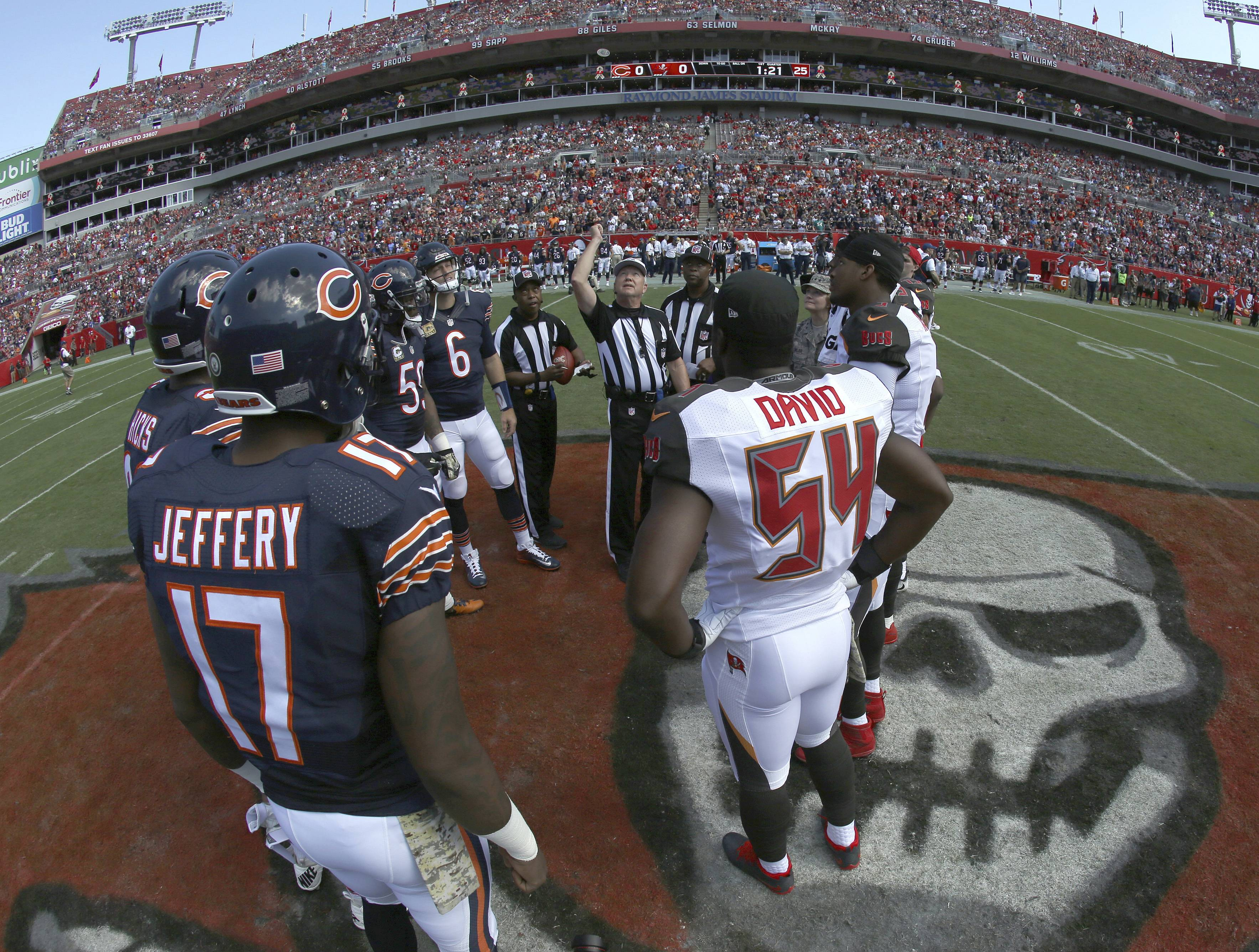 The Chicago Bears and Tampa Bay Buccaneers will play in Tampa this weekend at Raymond James Stadium, Buccaneers officials announced Tuesday. The Bucs will finally get to start the NFL season after their first game was postponed by Hurricane Irma's wrath.