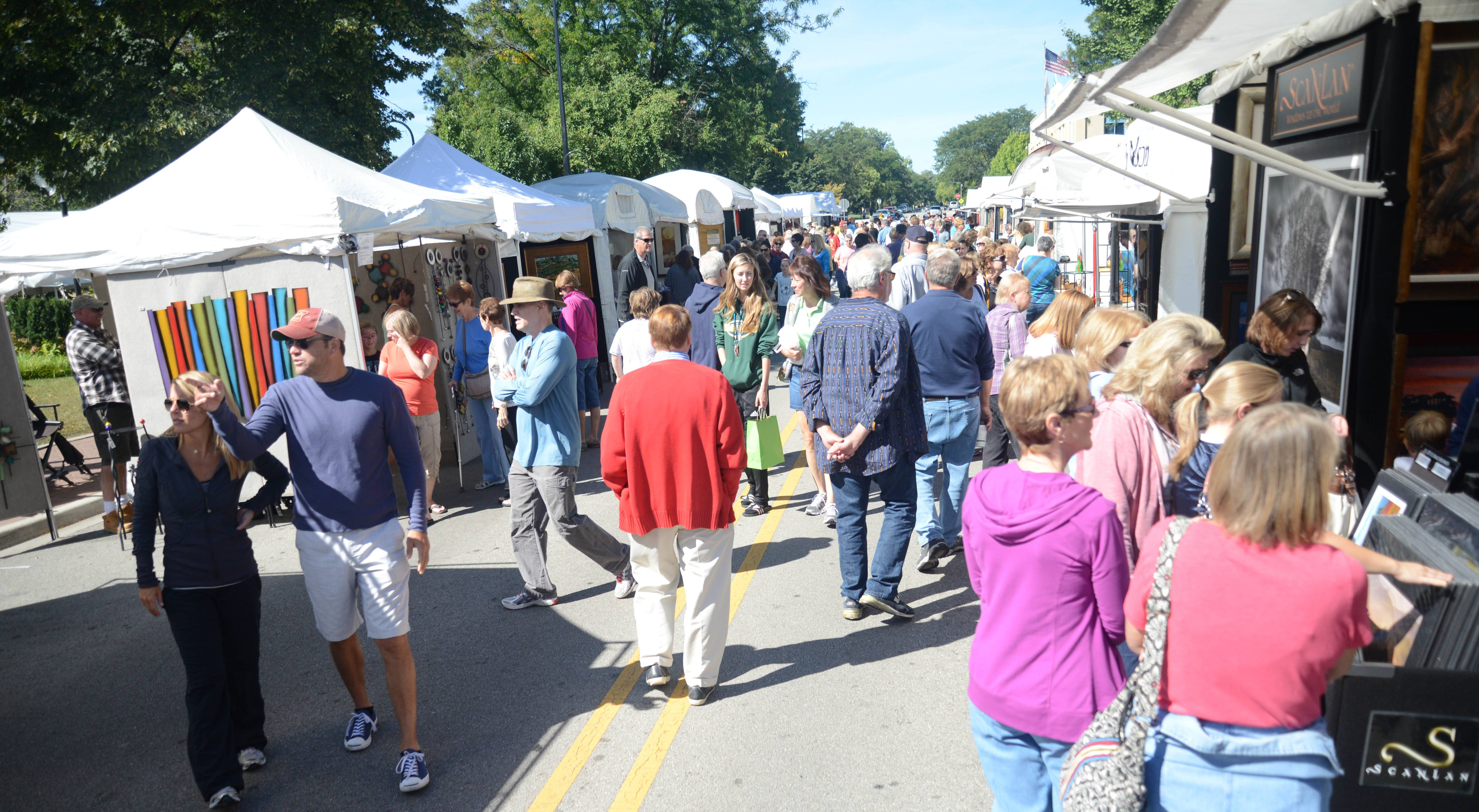 The Riverwalk Fine Art Fair will be back along Jackson Avenue, Main Street and the Riverwalk in downtown Naperville on Saturday and Sunday, Sept. 16 and 17, for its 32nd year, featuring booths from 135 artists.