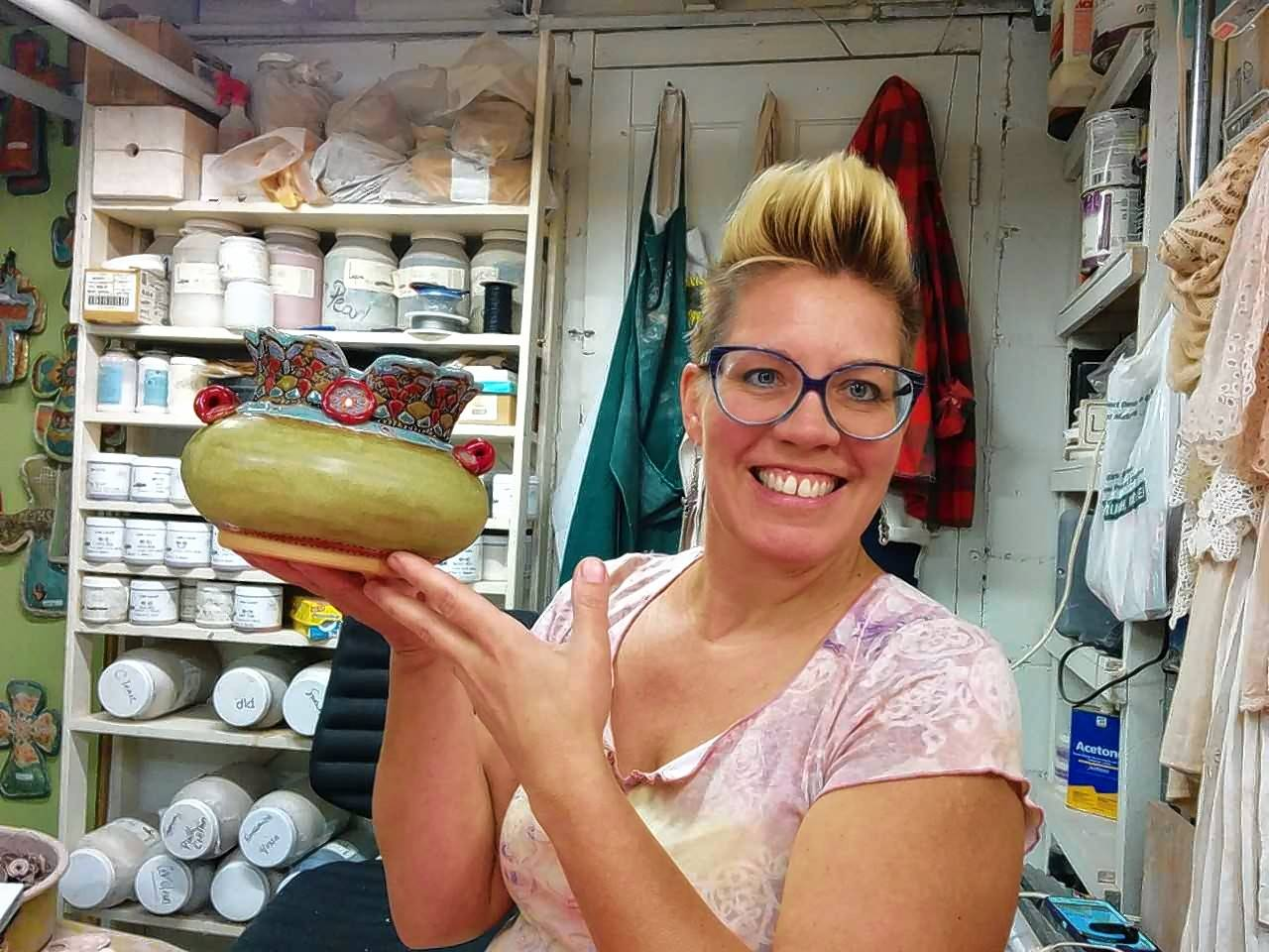 Laurie Pollpeter Eskenazi, a ceramic artist from Naperville, is among local artists who will be displaying items Saturday and Sunday, Sept. 16 and 17, during the Naperville Art League's 32nd annual Riverwalk Fine Art Fair.