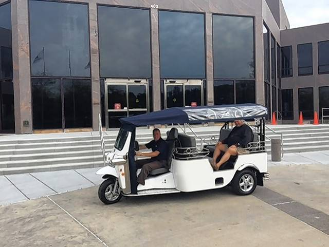 "Electric three-wheeled shuttles called Tuk Tuks have been a fixture in downtown Naperville for nearly the past year as riders have found the unusual vehicles ""fun and festive,"" Mayor Steve Chirico said."