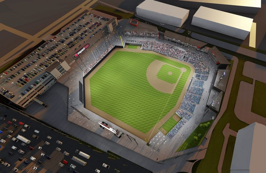 The new independent league baseball stadium under construction in Rosemont will be called Impact Field, after Impact Networking and the Chicago Dogs baseball team inked a 12-year naming rights deal.