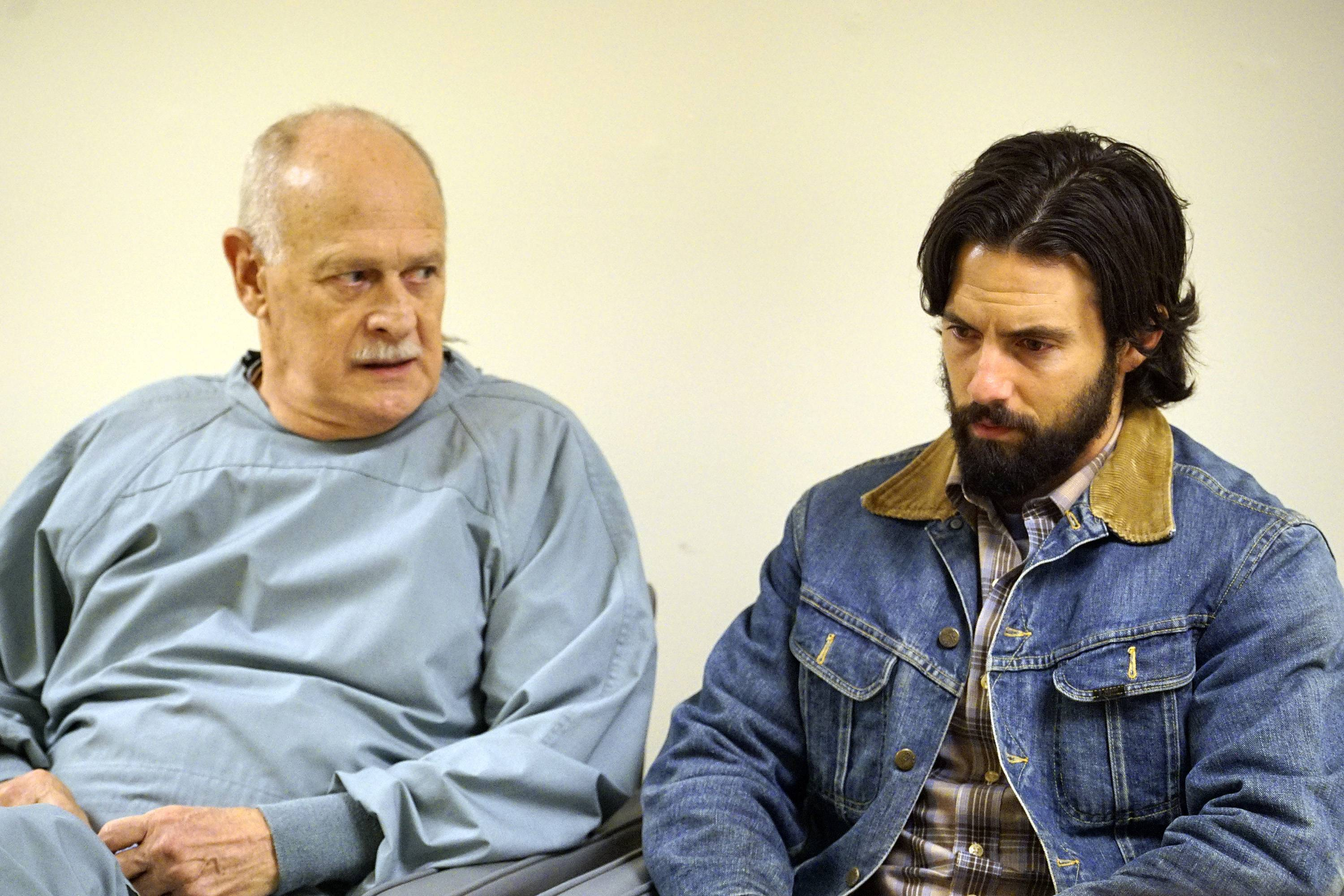 "Gerald McRaney and Milo Ventimiglia, both nominated for Emmys, star in the premiere episode of NBC's ""This Is Us,"" a front-runner for the top prize at Sunday's Emmys."