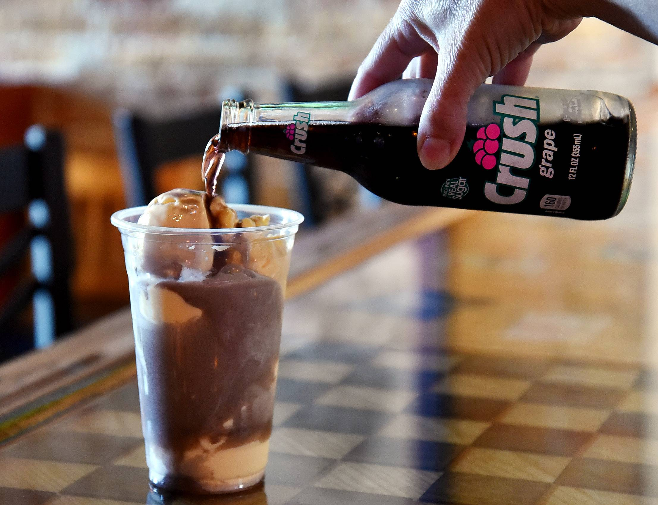 Sip on a purple cow float at Remember Charlotte's Pizza in Barrington.