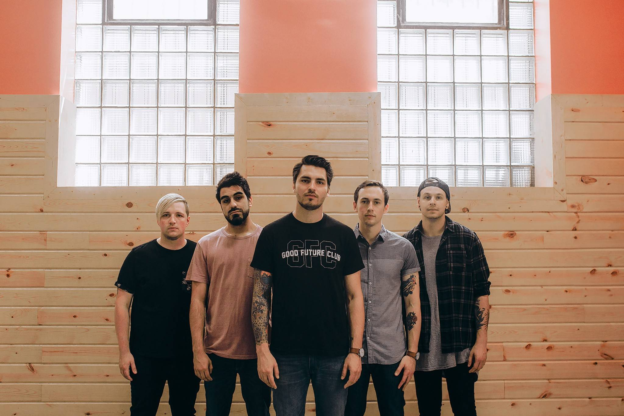 Pop-punk band Sleep On It — Jake Marquis, left, AJ Khah, Zech Pluister, Teddy Horansky and Luka Fischman — is among the local talent making an appearance on this year's Riot Fest lineup.