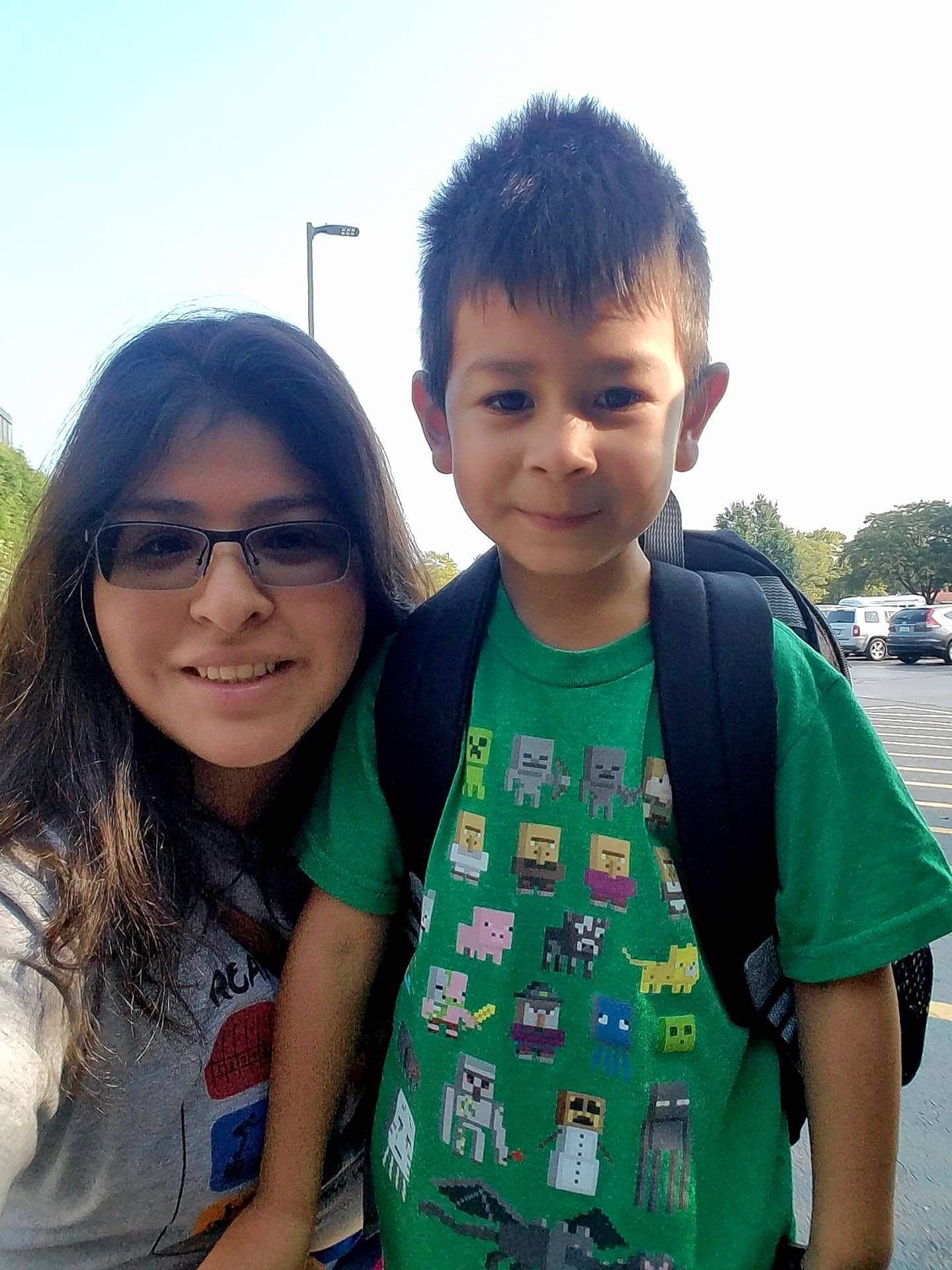 Elk Grove Village mom Rocio Rosales, pictured here with her 4-year-old son, Ethan, collected 10,000 pounds of supplies for Hurricane Harvey victims in her native Texas.
