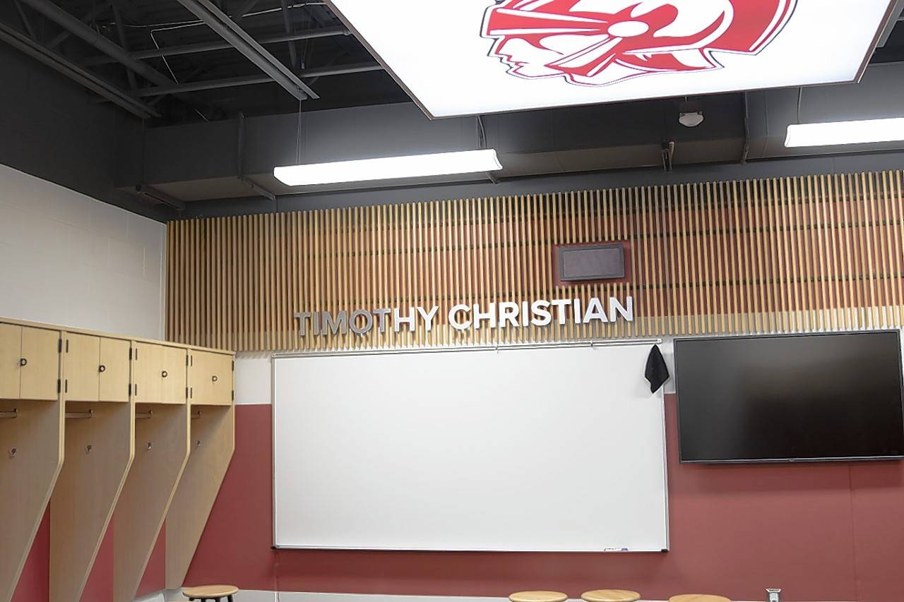 The new Ward Athletic Center at Timothy Christian.