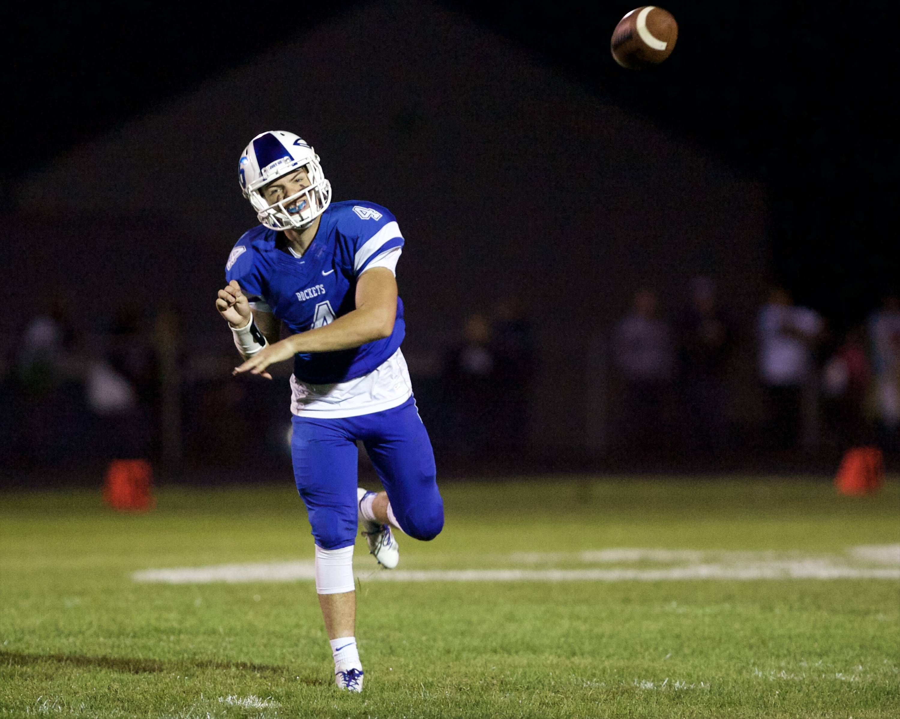 Burlington Central junior quarterback Johnny DiCostanzo will be out for the season with a knee injury.
