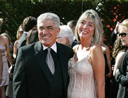 "FILE - In this Sept. 16, 2007, file photo, actor Frank Vincent and his wife Kathleen arrive for the 59th Primetime Emmy Awards in Los Angeles. Vincent, a veteran character actor who often played tough guys including mob boss Phil Leotardo on ""The Sopranos,"" died, Wednesday, Sept. 13, 2018. He was 80. (AP Photo/Chris Carlson, File)"