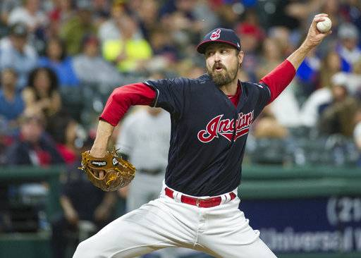 FILE - In this June 9, 2017, file photo, Cleveland Indians relief pitcher Andrew Miller delivers against the Chicago White Sox during a baseball game in Cleveland. All-Star reliever Andrew Miller will likely be activated from the disabled list Thursday, Sept. 14, and re-join the red-hot Cleveland Indians.
