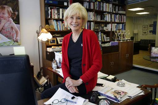 """60 Minutes"" correspondent Lesley Stahl, poses for a photo in her office at the ""60 Minutes"" offices, in New York, Tuesday, Sept. 12, 2017.   CBS' ""60 Minutes,"" the newsmagazine that can credit consistency for much of its success as it enters its 50th anniversary year."