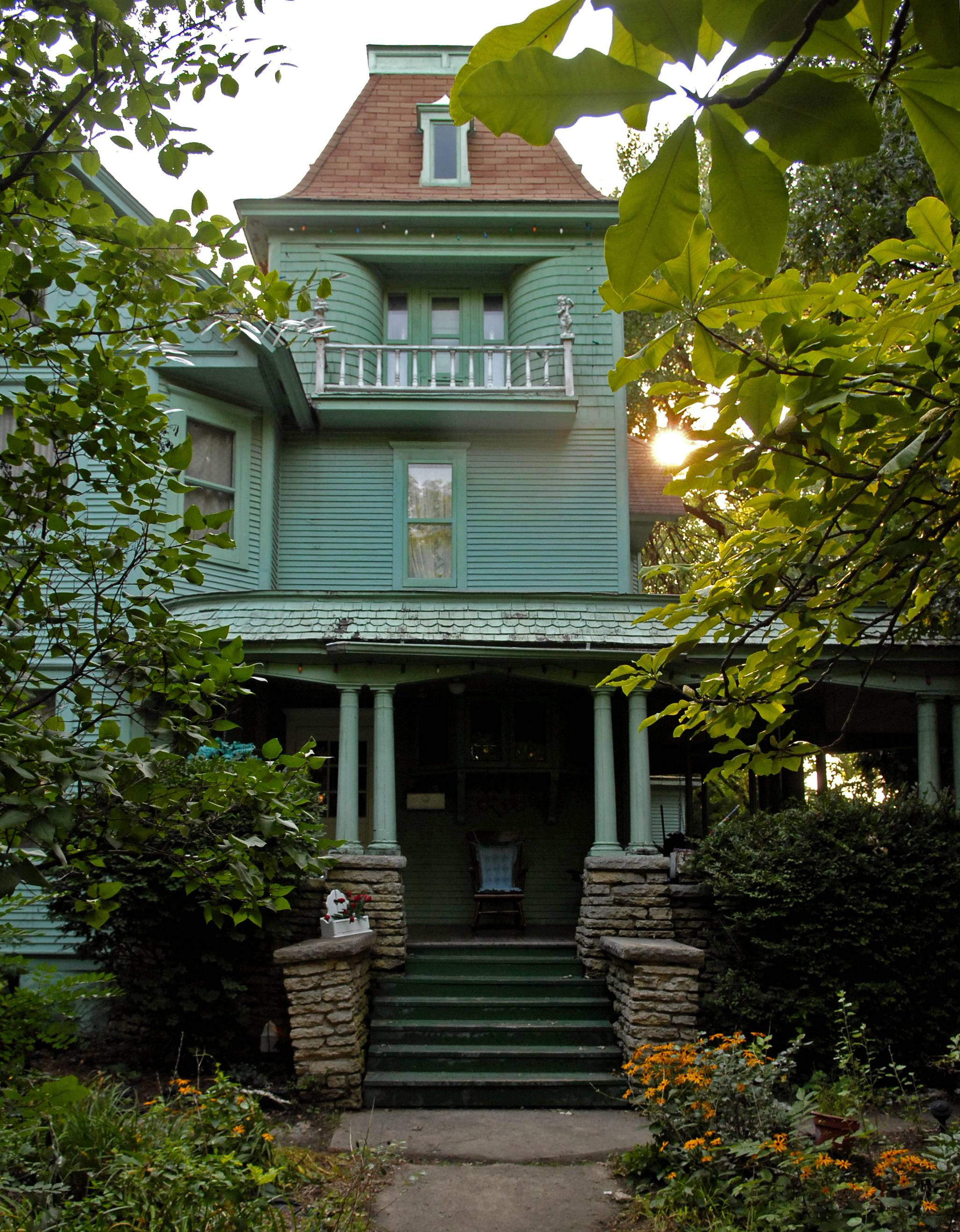 "The former dark green color and mysterious look of the house at 405 S. Seventh St. in St. Charles caused some to dub it the ""Munsters Mansion."""