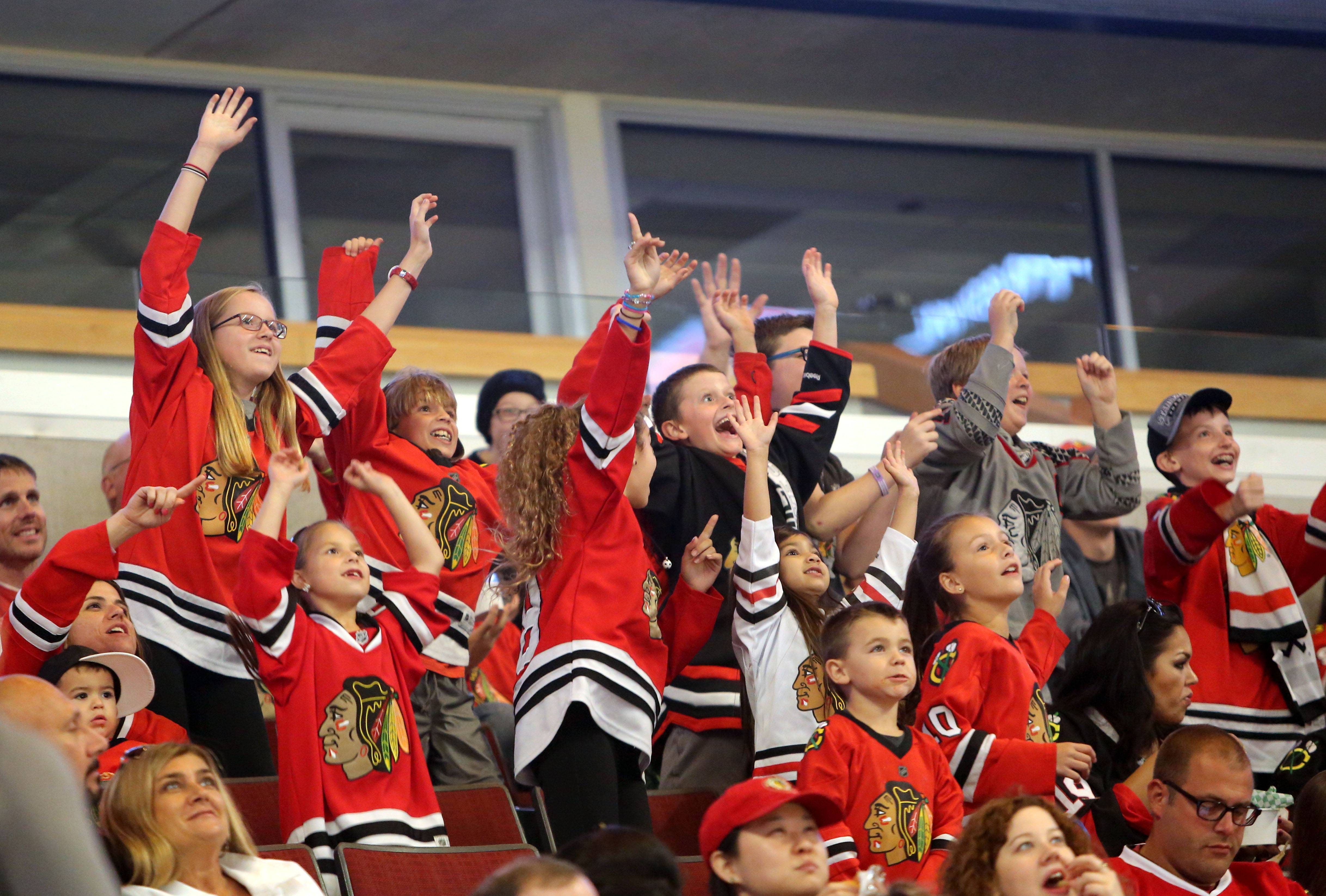 Steve Lundy/slundy@dailyherald.com/2015 file Attending the Blackhawks training camp festival Saturday is one of several opportunities for fans to watch the team before the regular season begins.
