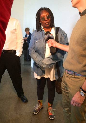 Actress and TV personality Whoopi Goldberg appears at the Tracy Reese Spring 2018 collection during New York Fashion Week, Sunday, Sept. 10, 2017.