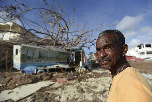 Juan Antonio Higuey shows his destroyed home at Cold Bay community after the passage of Hurricane Irma, in St. Martin, Monday, September 11, 2017. Irma cut a path of devastation across the northern Caribbean, leaving thousands homeless after destroying buildings and uprooting trees.