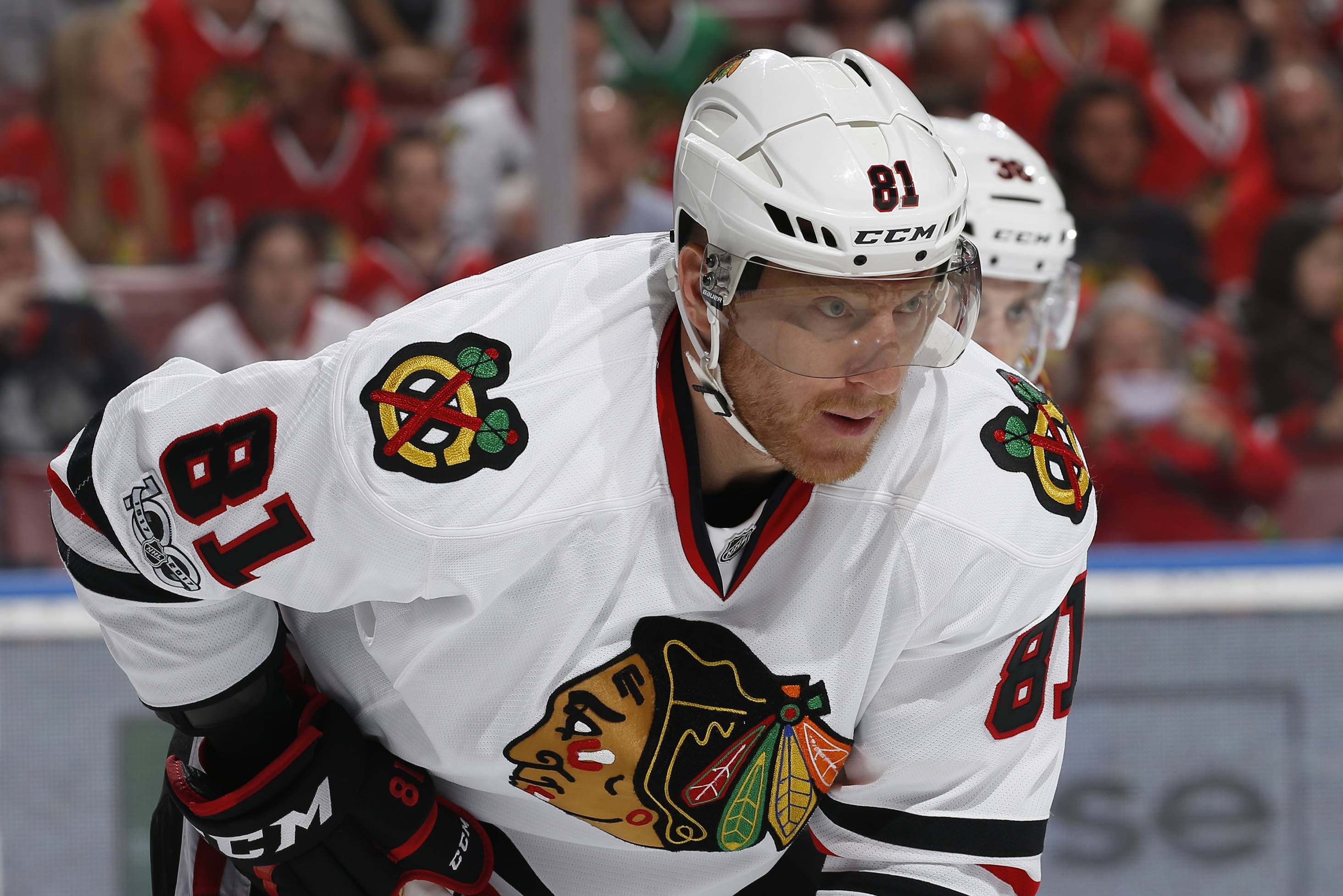 Chicago Blackhawks right wing Marian Hossa Hossa is one of the veteran players missing as the team opens training camp. Hossa will miss the entire 2017-18 season because of a progressive skin disorder.