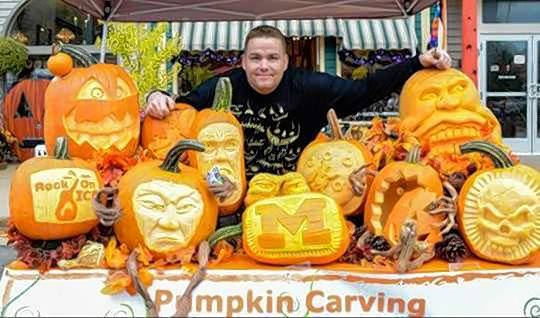 Greg Butauski of Rock On Ice Pumpkin Carving will create works of art at the Lake County Farm Heritage and Harvest Festival from 10 a.m. to 5 p.m. Saturday and Sunday.