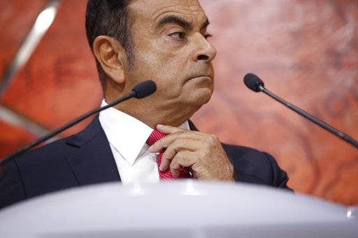 Carlos Ghosn, Chairman and CEO of Renault-Nissan Alliance, addresses the media during a press conference held in Paris, France, Friday, Sept. 15, 2017. The Renault-Nissan alliance is ramping up electric car production, vowing 12 new models by 2022 and to make electric cars 30 percent of its overall production. (AP Photo/Thibault Camus)