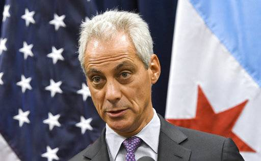 "FILE- In this Jan. 15, 2017, file photo Chicago Mayor Rahm Emanuel speaks during a news conference in Chicago. U.S. District Judge Harry Leinenweber ruled Friday, Sept. 15, 2017, that U.S. Attorney General Jeff Sessions cannot follow through with his threat to withhold public safety grant money to Chicago and other U.S cities for refusing to impose tough immigration policies. Leinenweber granted Chicago's request for a temporary ""nationwide"" injunction that means the Justice Department cannot deny requests for the grant money until its lawsuit against the Justice Department is concluded. (AP Photo/Matt Marton, File)"