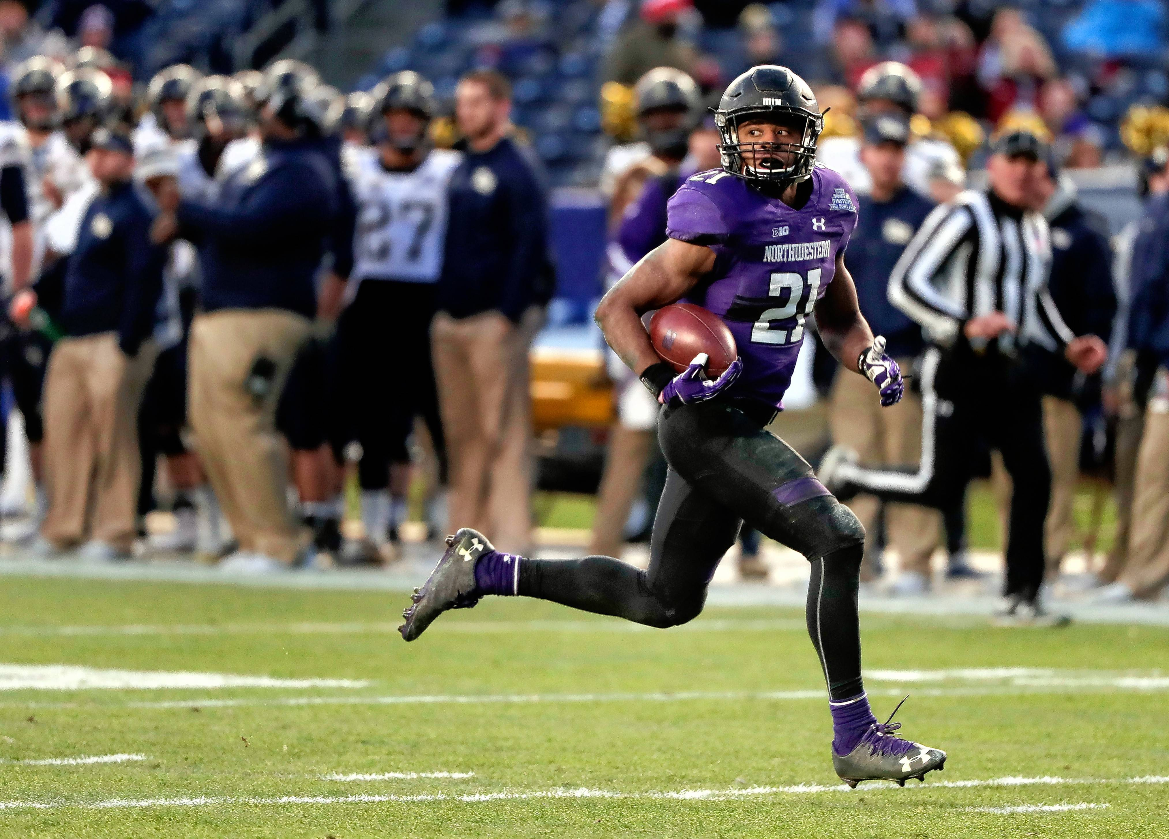 Northwestern running back Justin Jackson is on the verge of breaking the school's career rushing record and could finish his career as No. 2 in the Big Ten.