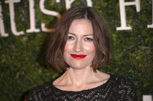 FILE - In this Sunday, Feb. 7, 2016 file photo, actress Kelly Macdonald poses for photographers as she arrives at the Evening Standard British Film Awards 2016 in London. Macdonald and her husband, musician Douglas Payne, have been separated for several months, according to a statement issued by her publicist on Saturday, Sept. 16, 2017. (Photo by Joel Ryan/Invision/AP)