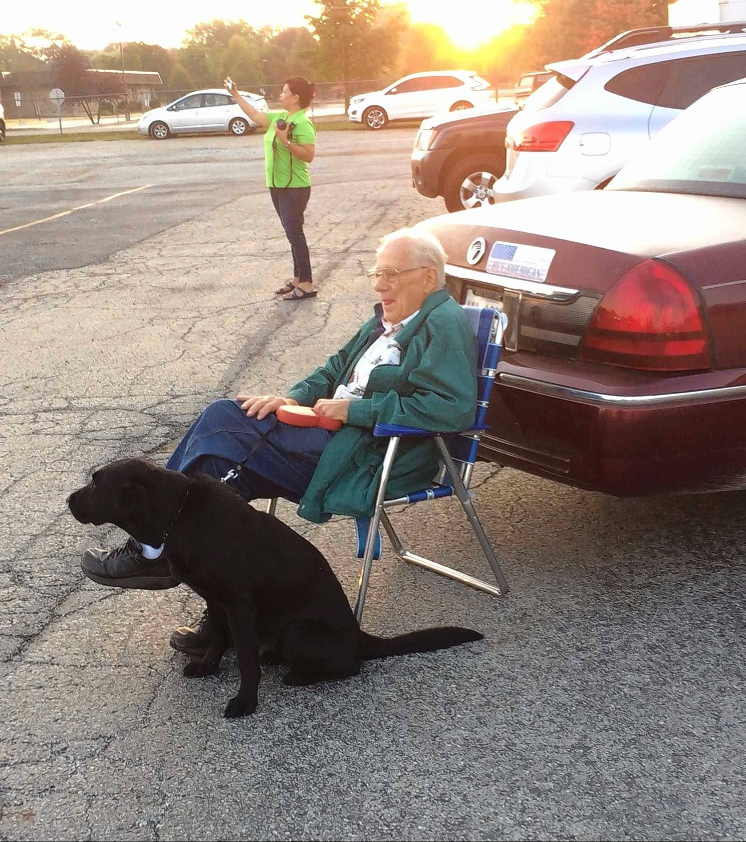 As a teenager, Herb Wehling drove a military Jeep across Europe at the end of World War II. Saturday, the 90-year-old Wheaton resident and his rescue dog, Knucklehead, venture out at sunrise to watch a convoy of similar antique military vehicles began a 29-day, cross-country convoy to California.