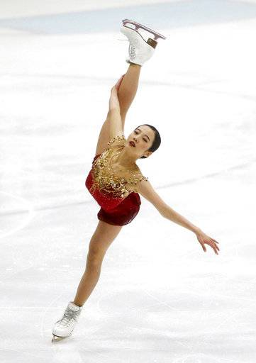 Japan's Marin Honda competes during the free skate program at the U.S. International Figure Skating Classic in Salt Lake City, Saturday, Sept. 16, 2017. (AP Photo/Rick Bowmer)