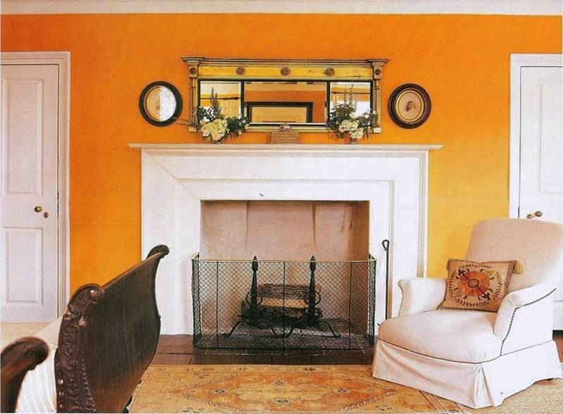 Rooms painted in reds and yellows tones feel warmer  and are best used in  rooms. Paint is the best decorating tool for the home