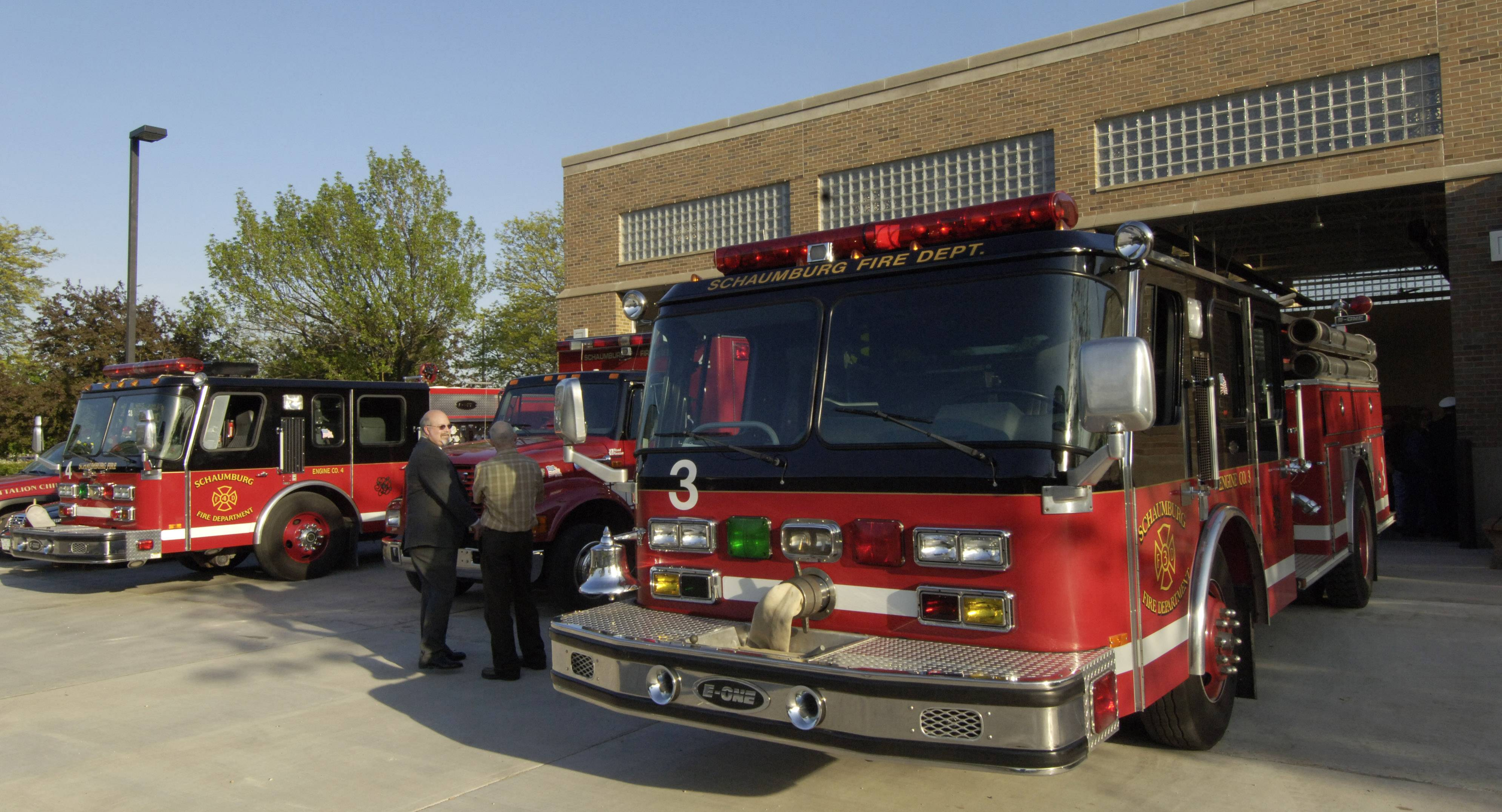 Schaumburg officials are considering moving the fire department's offices to Station 51, which opened near the existing police station in May 2006.
