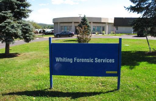 This Friday, Sept. 15, 2017 photo shows the Whiting Forensic Division maximum-security psychiatric hospital in Middletown, Conn. Allegations of staff misconduct at Connecticut's only maximum-security psychiatric hospital are mounting after a whistleblower complaint about abuse of a patient led to some staff suspensions and several arrests. (AP Photo/Dave Collins)