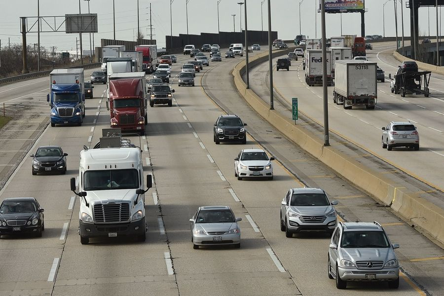 A 48-year-old tollway maintenance worker died in a hit-and-run crash on the Tri-State.