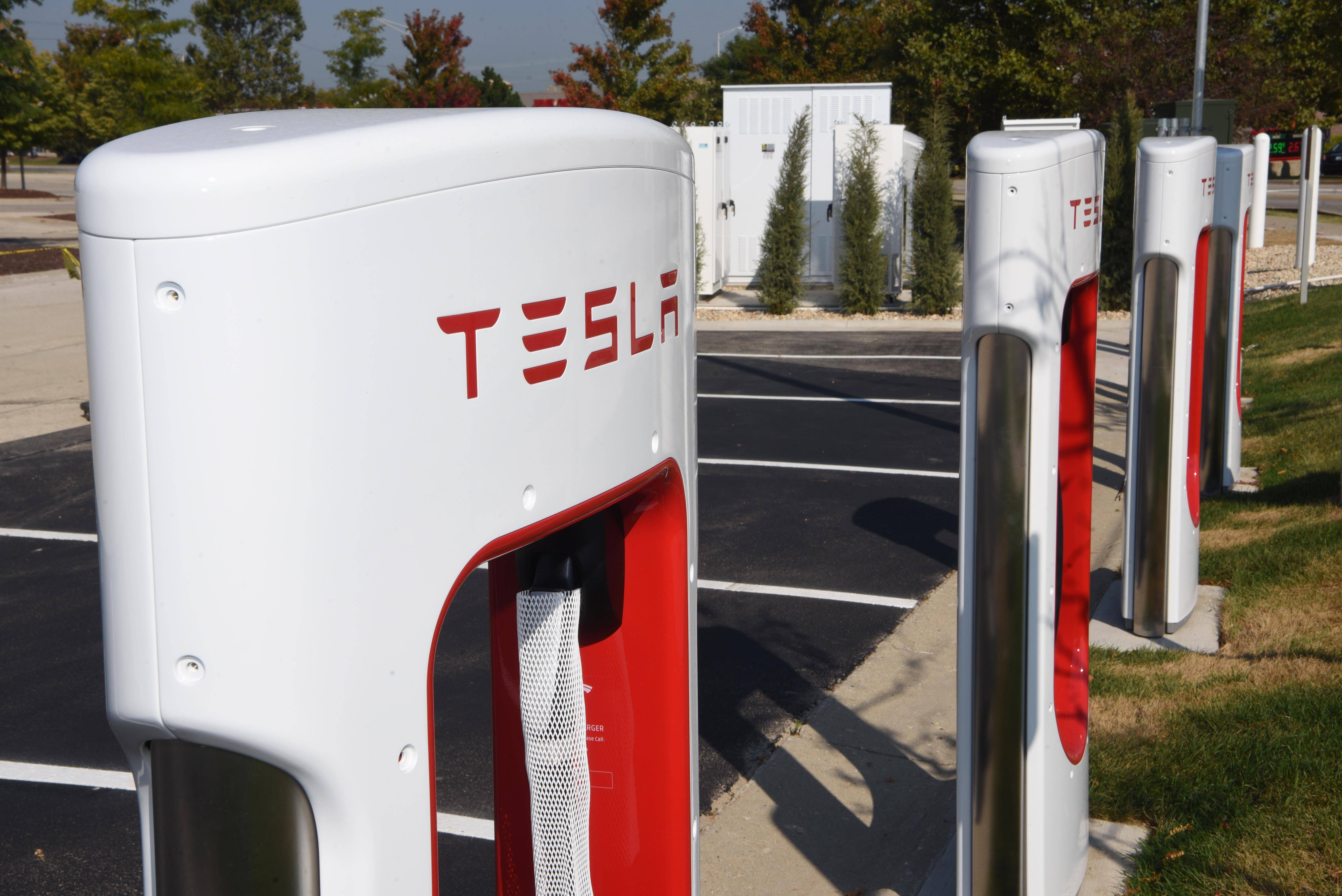 A new Tesla Supercharger station will open soon in the parking lot of the Meijer store in Rolling Meadows.