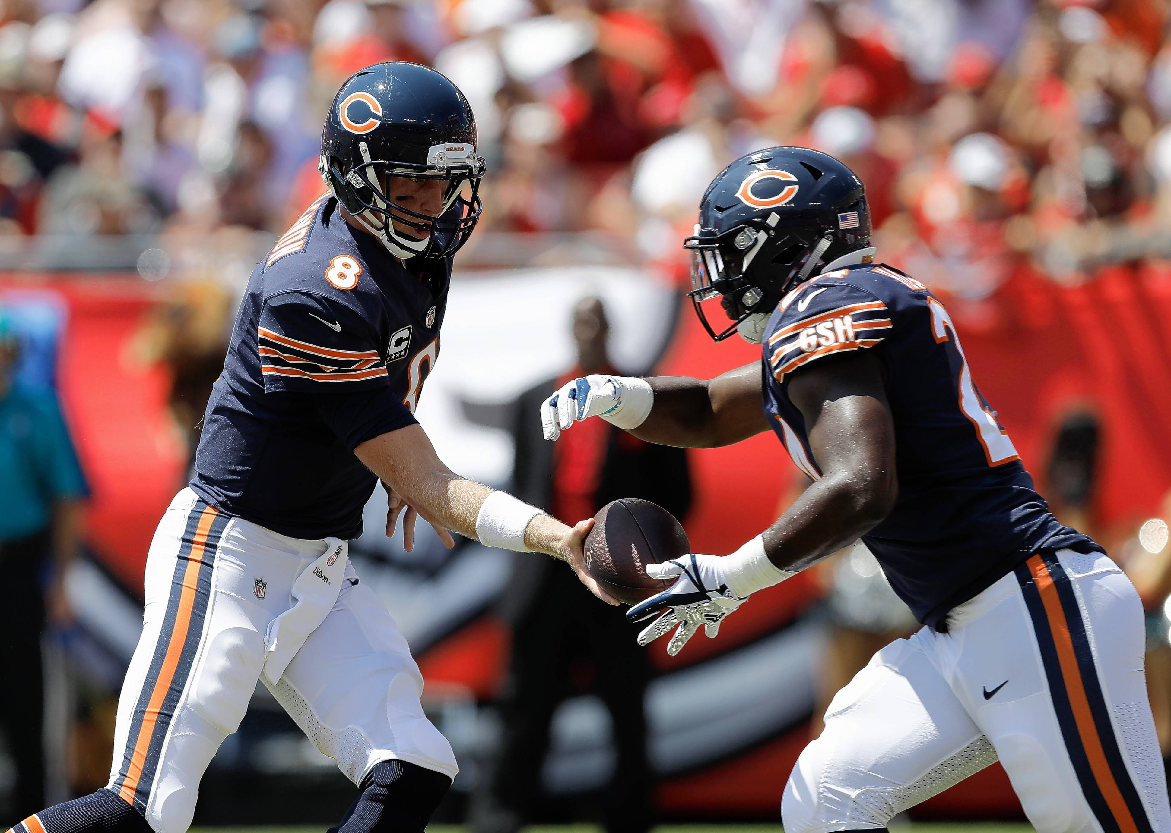 Chicago Bears running back Jordan Howard is off to a slow start after breaking out last year as a rookie. In Sunday's loss against Tampa Bay, Howard averaged just 0.8 yards per carry.