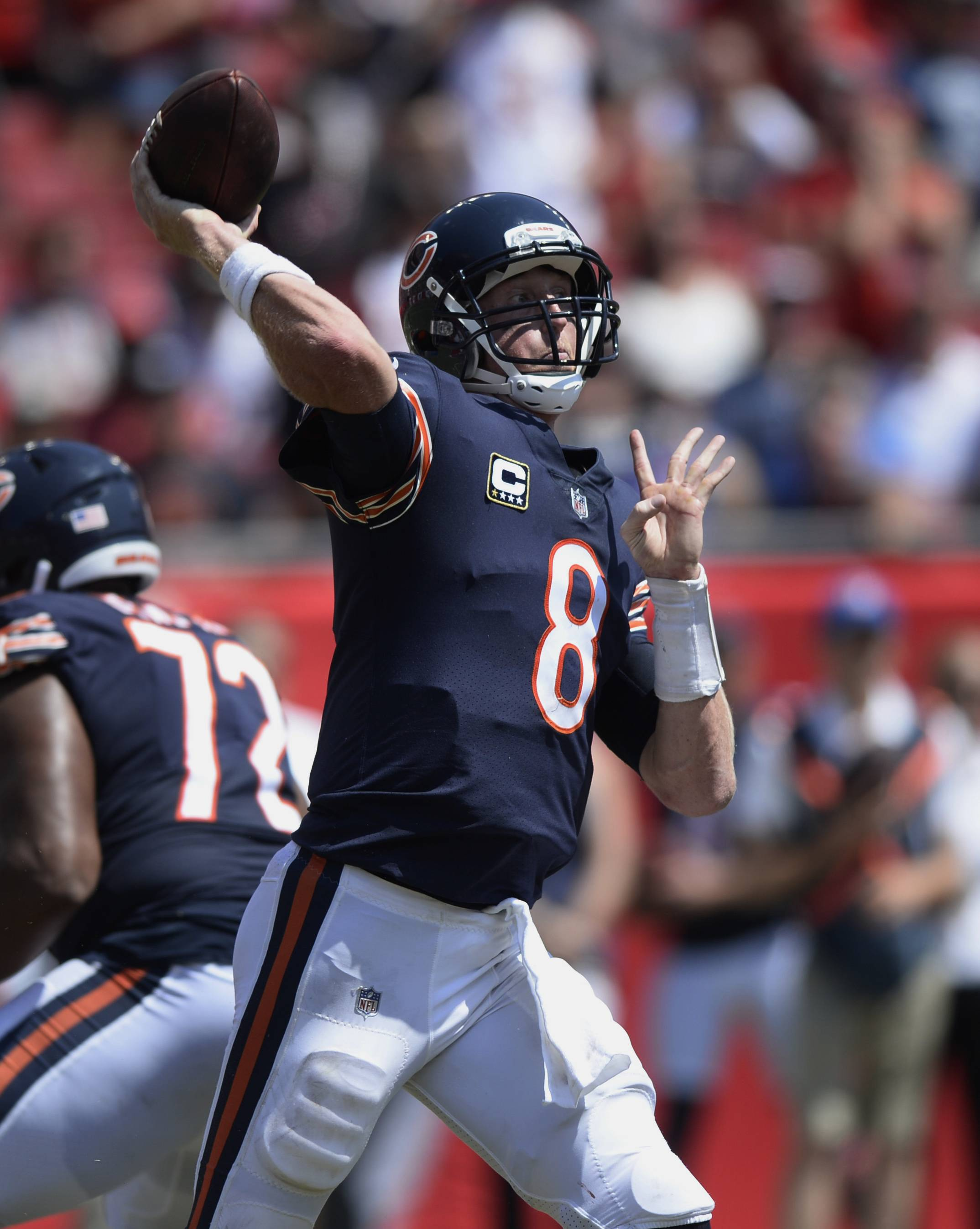 Chicago Bears coach John Fox says he's sticking with quarterback Mike Glennon because he feels Glennon gives the team a better chance to win than rookie Mitch Trubisky.