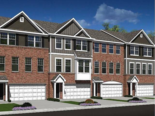 A rendering shows plans for 39 townhouses at 411-415 N. Wolf Road in Wheeling to be called Wolf Crossing.