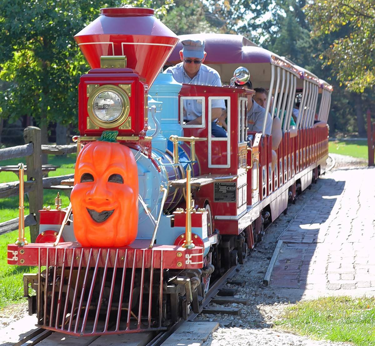 Train rides are among the activities at Pumpkin Weekends at Blackberry Farm in Aurora.