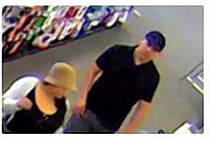 Arlington Heights police are looking for the two people pictured at a Best Buy in Schaumburg. The man is accused of stealing a wallet from an elderly woman at Trader Joe's.