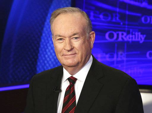 "FILE - In this Oct. 1, 2015, file photo, Bill O'Reilly of the Fox News Channel program ""The O'Reilly Factor,"" poses for photos in New York. O'Reilly said Tuesday, Spet. 19, 2017, that his firing from Fox News Channel in April was a ""political hit job"" and that his network's parent company made a business decision to get rid of him. (AP Photo/Richard Drew, File)"