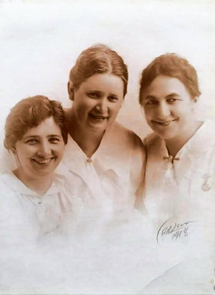 Libbie Goll, center, with two workers from the Resthaven convalescent home she founded in Elgin. She will be portrayed by Rebecca Miller in the Elgin Cemetery Walk.