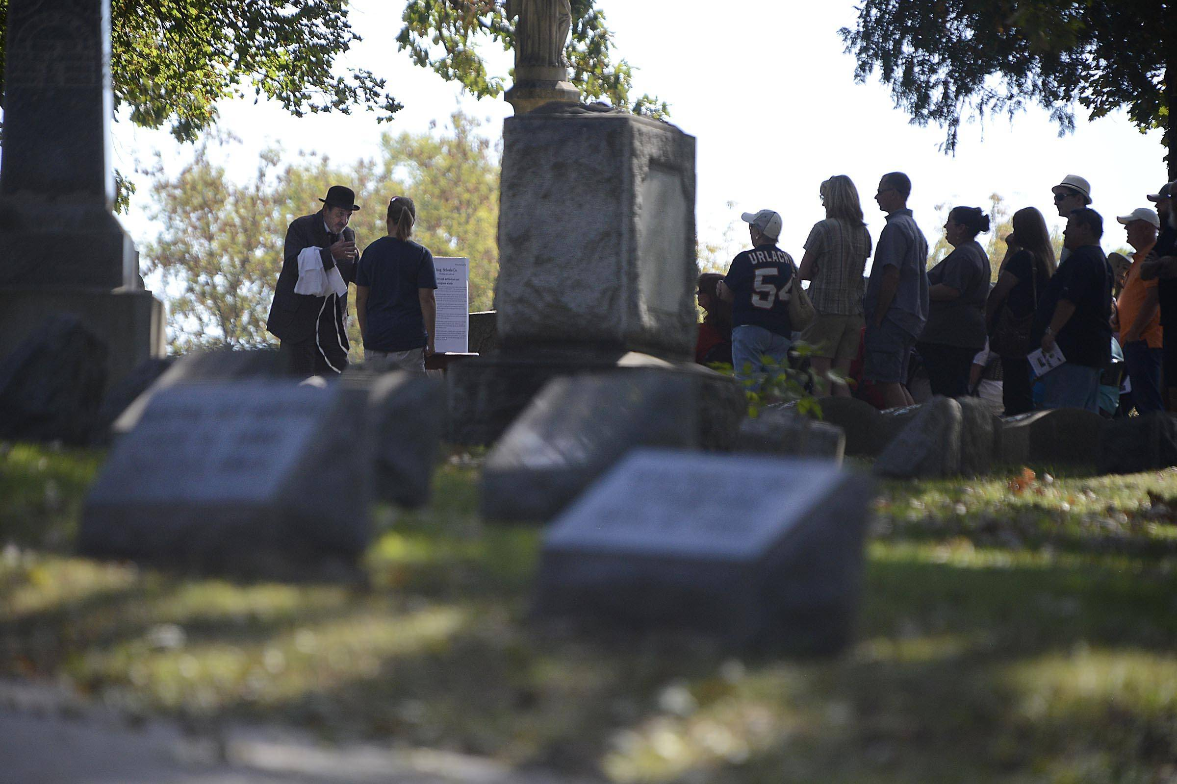 The 30th annual Elgin Cemetery Walk will feature actors portraying long-dead Elgin notables and sharing their life stories. It takes place Sunday at Bluff City Cemetery.