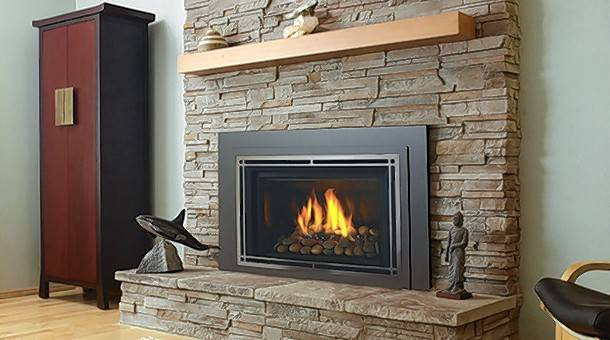 Using gas logs or gas inserts is more convenient than burning wood in your fireplace, and they both are more efficient at heating your home.