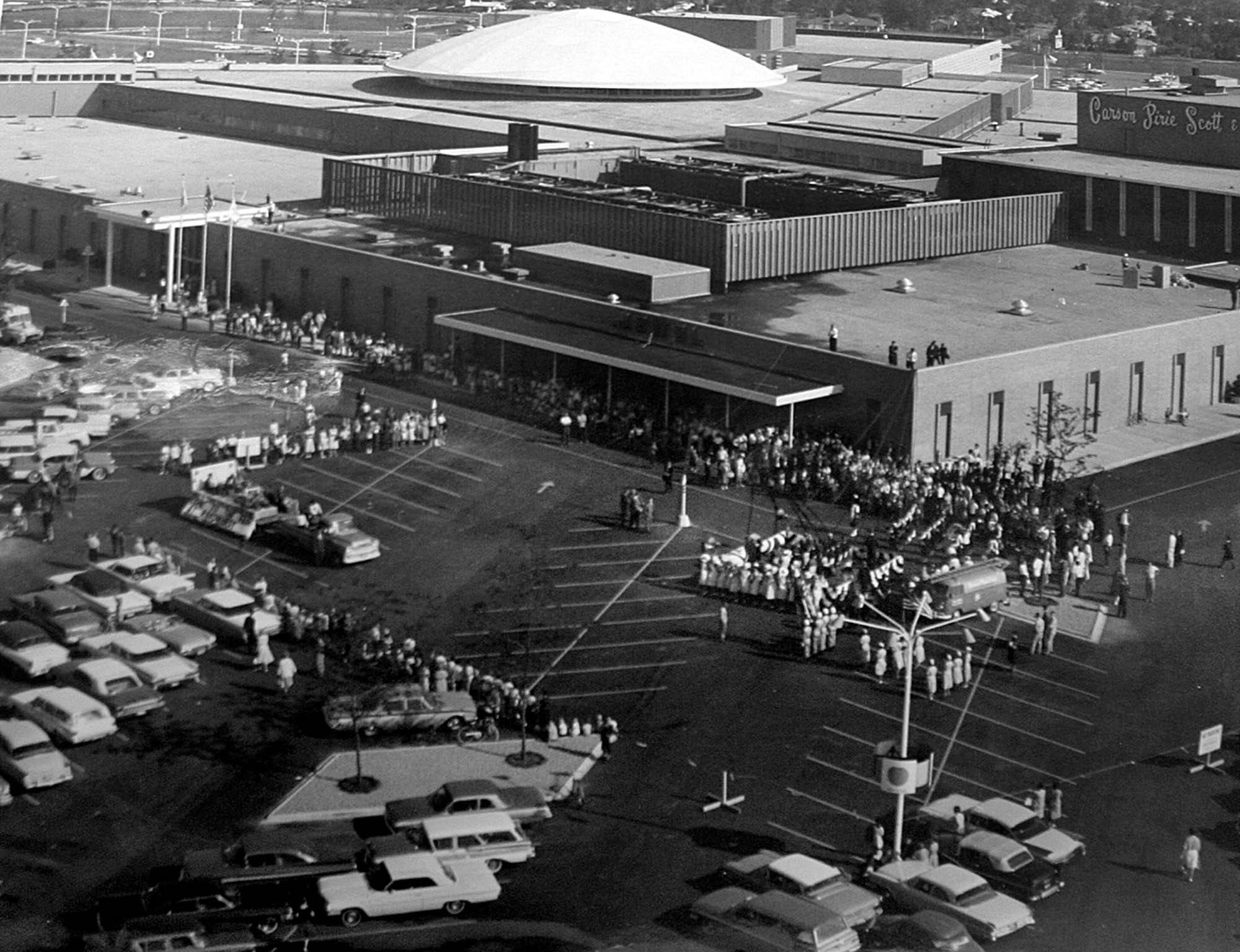 Randhurst Mall opened during Schlaver's term as mayor of Mount Prospect. It is pictured during its grand opening on Aug. 16, 1962.
