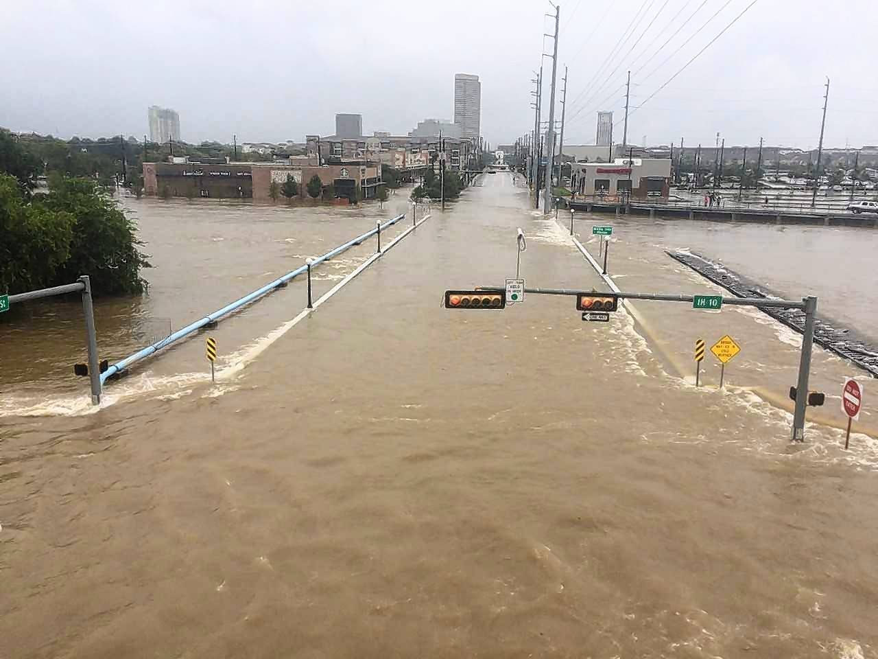Houston Press reporter Meagan Flynn, a 2011 graduate of Huntley High School, took pictures of severe flooding about a block or two from her Houston apartment two days after Hurricane Harvey made landfall Aug. 25.