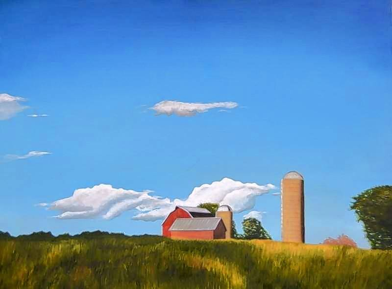 Lombard artist Kirk Kerndl finds inspiration in the tranquillity of the rural Midwestern landscape.