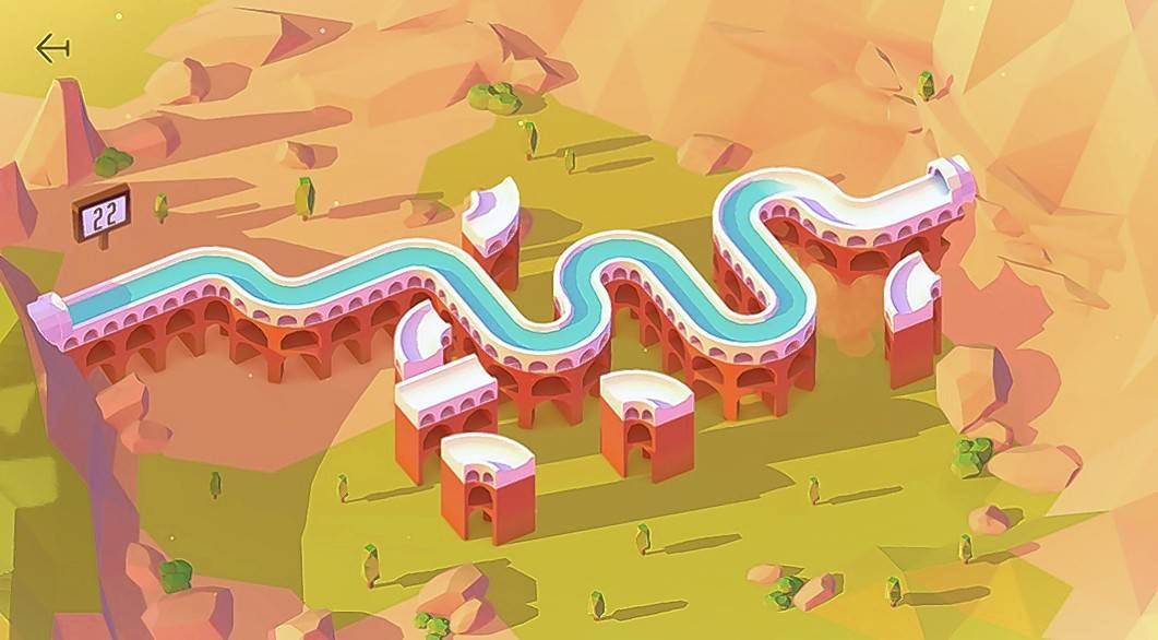 You've got to make the flow go in Aqueducts, a puzzle game that has you averting drought by figuring out how to get water from a lake to a city.