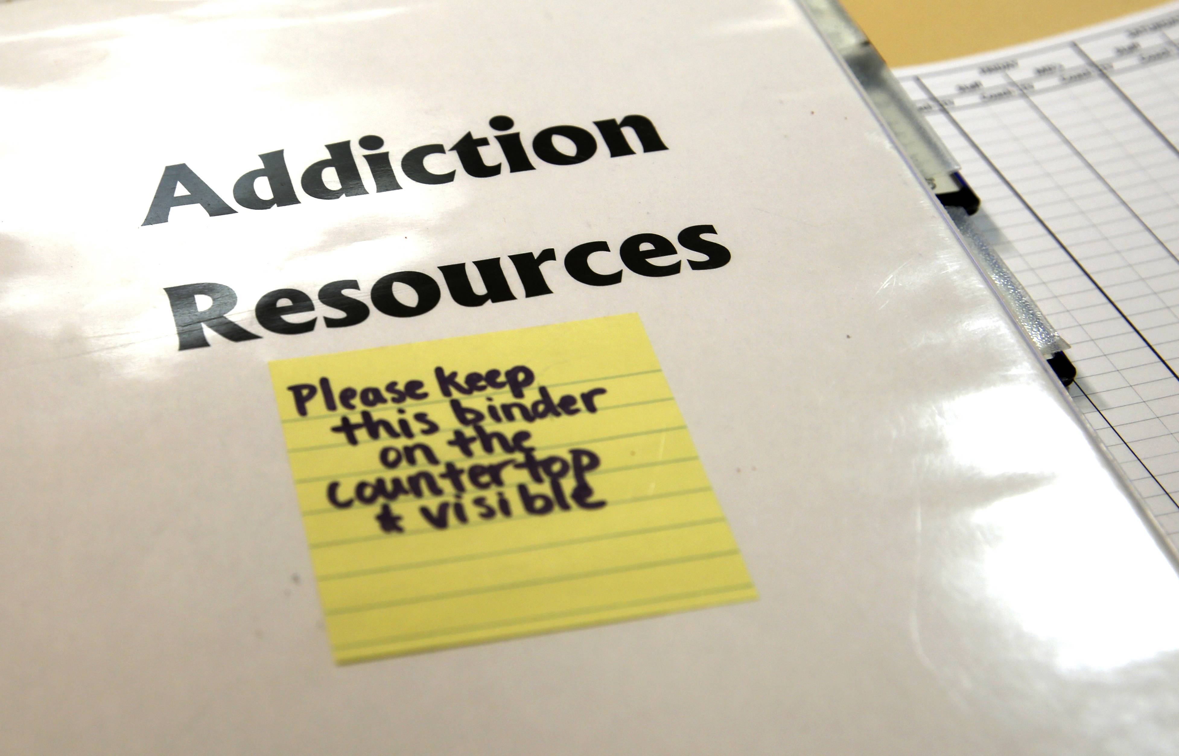 This playbook for addiction is distributed to patients at Advocate Good Samaritan Hospital in Downers Grove which offers a medically centered detox program.