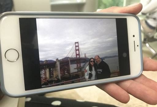"This photo released by Claudia Ponce Orozco on Sept. 23, 2017 shows her father Jose Luis Ponce posing for a photo with her in front of San Francisco's Golden Gate Bridge in California. Claudia said her father was pulled alive from the rubble of his nine-story Mexico City apartment building 26 hours after it collapsed following a 7.1-magnitude earthquake on Sept. 19 in Mexico City. ""You said you would be with me always,� his daughter, Claudia Ponce, 30, told him. ""Now is not the moment to leave.� (Claudia Ponce Orozco via AP)"