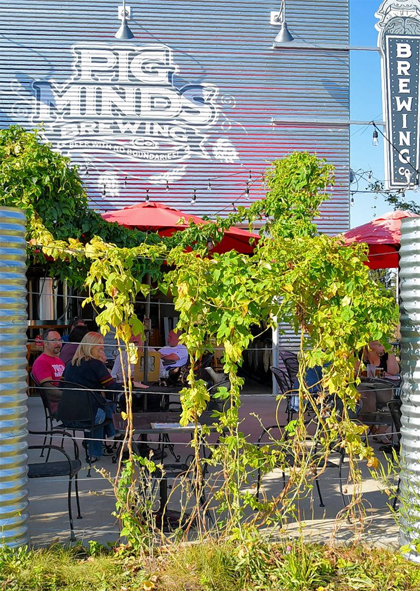 Pig Minds Brewing offers an inventive beer selection in addition to its ambitious menu.
