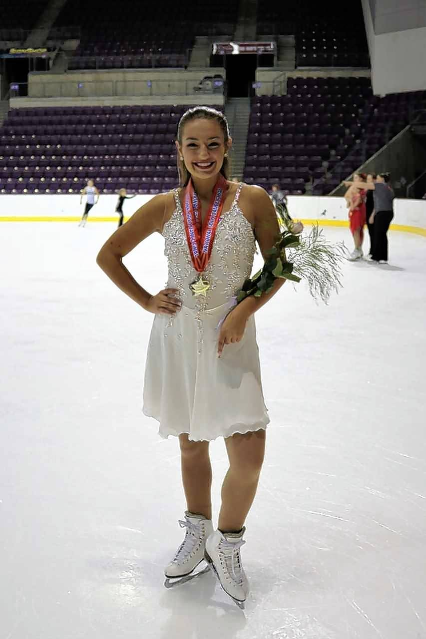 Megan Fee, 17, of Geneva, earned a gold medal in international pattern dance and a pewter medal in the senior solo dance combined event earlier this month at the U.S. Figure Skating Association's 2017 National Solo Dance Series Final in Colorado Springs.
